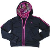Puma Girls 7-16 Contrast Graphic Zip-Up Hoodie