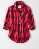 American Eagle AE Plaid Boyfriend Shirt