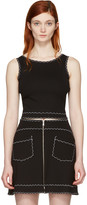 McQ by Alexander McQueen Black Cropped Tank Top