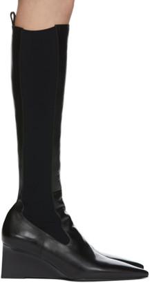 Jil Sander Black Western Tall Boots