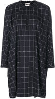 Hache windowpane check dress - women - Cotton/Spandex/Elastane/Wool - 40