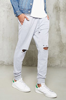 Forever 21 FOREVER 21+ Distressed Heathered Joggers