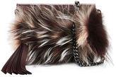 Elena Ghisellini Nina Mini Crazy Fur Clutch Bag