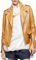 3.1 Phillip Lim Leather Biker Jacket, Saddle