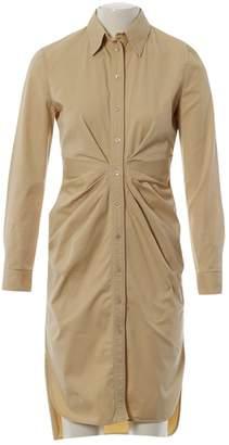 Christian Dior Beige Cotton - elasthane Dresses
