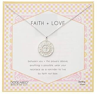 Dogeared Faith Love Cross Medallion Necklace