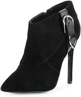 Charles David Valle Suede High-Heel Bootie, Black