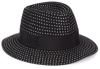 Saint Laurent Studded Felt Fedora