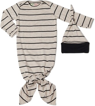 Baby Grey by Everly Grey Gown & Hat Set