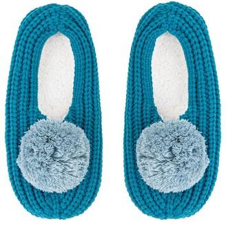 Verloop Pommed Rib Slippers Teal Small/Medium