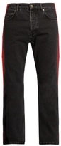 Balenciaga Side-striped straight-leg jeans