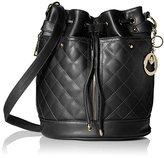MG Collection EVA Quilted Drawstring Bucket Shoulder Bag