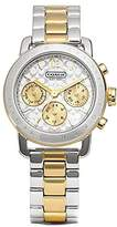 Coach Women's Silver Quartz Duo-tone Stainless Steel Small Watch 14501840