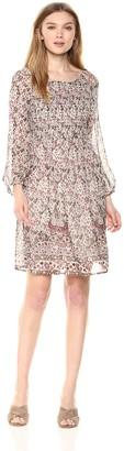Velvet by Graham & Spencer Women's Ariana Printed Smocked Dress