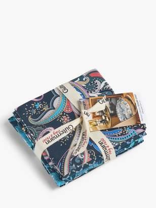 Gütermann Creativ Gutermann creativ Elegant Spirit Print Fat Quarter Fabrics, Pack of 5, Blue