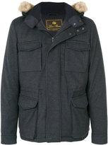 Loro Piana zipped hooded coat