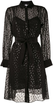 Karl Lagerfeld Paris Leopard Jacquard Dress