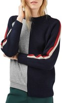 Topshop Women's Cutabout Colorblock Sweater