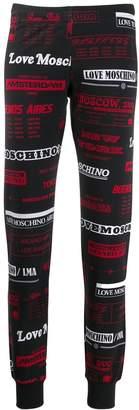 Love Moschino logo track pants