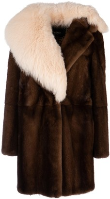 Fendi Asymmetric Fur Coat