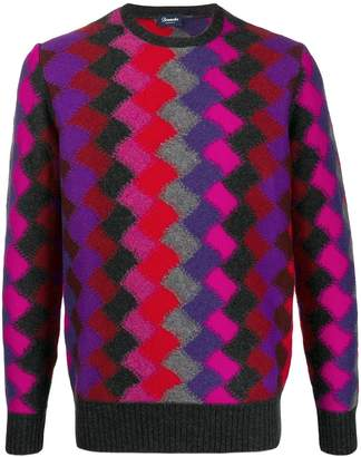 Drumohr argyle knit jumper
