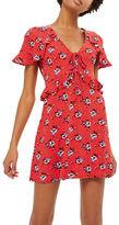 Topshop PETITE Spot Floral Tea Dress
