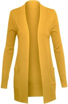 Hot From Hollywood Women's Classic Long Sleeve Open Sweater Cardigan with Pockets