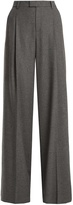 RED Valentino High-rise wide-leg wool-blend trousers