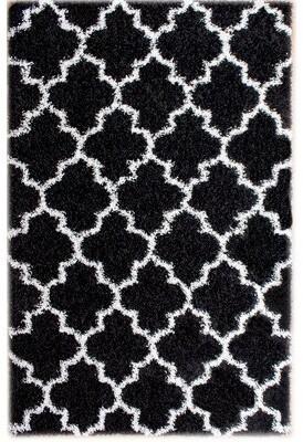 Rosdorf Park Mason Black/White Area Rug Rug Size: 2' x 3'