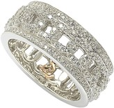Sterling Silver Cutout CZ Band
