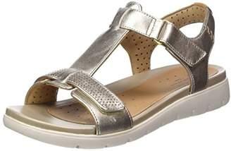 Clarks Women's Un Haywood T-Bar Sandals, Gold Metallic