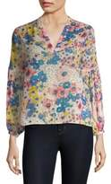 Joie Dolce Vita Floral Silk Blouse