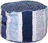 Lelbys Kids Bean Bags Stripy Dot Kids Bean Ottoman Cover, Navy Dot