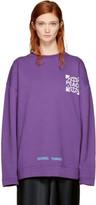Off-White Ssense Exclusive Purple Oversized Globe Sweatshirt