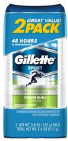 Gillette Clear Gel Power Rush Antiperspirant and Deodorant 2 count 3.8 oz