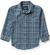 Calvin Klein Big Boys 8-20 Pivot Plaid Long-Sleeve Shirt