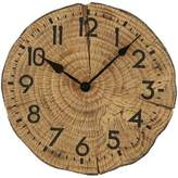 Sterling & Noble 12-Inch Back Woodsmen Wall Clock in Brown