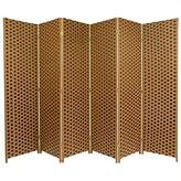 Oriental Furniture 6-Feet Tall Woven Fiber Room Divider