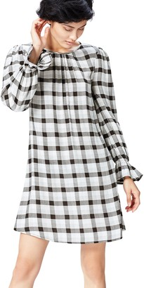 Private Label Amazon Brand - find. Women's Check Mini Dress
