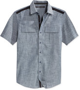Sean John Men's Solid Twill Short-Sleeve Shirt, Only at Macy's
