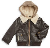 London Fog Boys 2-7 Sherpa Lined Leatherette Jacket