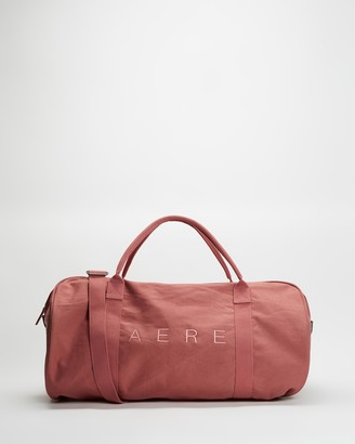 AERE - Pink Weekender - Organic Canvas Weekender - Size One Size at The Iconic