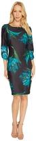 Christin Michaels Alyssandra 3/4 Sleeve Floral Dress Women's Dress
