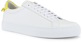 Givenchy Urban Street Low Sneaker in White & Yellow   FWRD