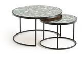 La Redoute La Lipstick Set of 2 Semi-Nesting Coffee Tables