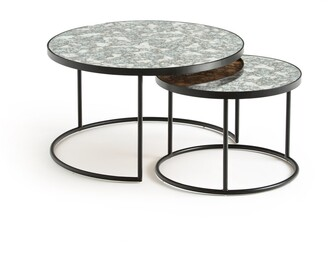 La Redoute Interieurs Lipstick Set of 2 Semi-Nesting Coffee Tables