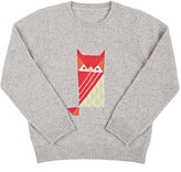 Barneys New York Owl Cashmere Sweater-GREY