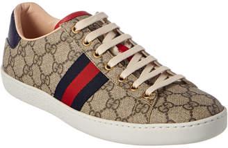Gucci Ace Gg Supreme Canvas & Leather Sneaker