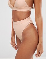 Asos Mix and Match High Leg and High Waist Bikini Bottom in Rib