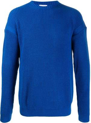 Family First ribbed crew-neck jumper